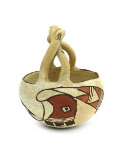 "Acoma Jar with Handle c. 1920s, 4.75"" x 3.5"""