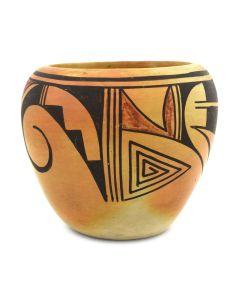 "Emogene Lomakema - Hopi Polychrome Jar c. 1950-60s, 4.5"" x 5"""