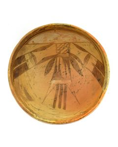 "Old Lady Nampeyo of Hano (1856-1942) - Hopi Polychrome Bowl c. 1900s, 3.25"" x 6.75"""