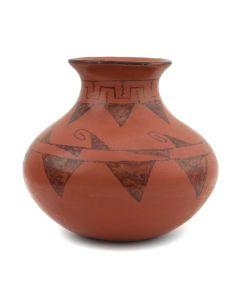 "Mary Juan - Maricopa Redware Vase c. 1960s, 5.25"" x 6"""