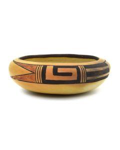 """Hopi Polychrome Bowl c. 1940s, 1.75"""" x 5.25"""""""