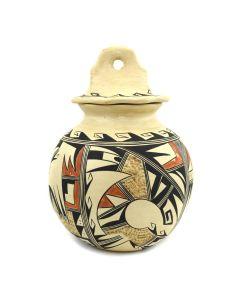"Stella Huma - Hopi Polychrome Lidded Jar c. 1970s, 10"" x 6.5"""