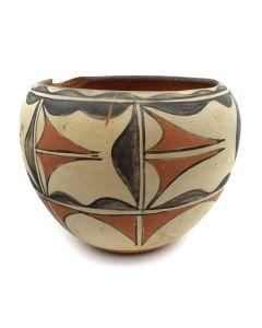 "Santo Domingo Polychrome Jar c. 1900-20s, 7"" x 8.5"""