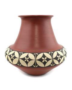 "Lois Gutierrez (b. 1948) - Santa Clara Redware Vase c. 1993, 10.5"" x 10.5"""