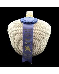 "Jackie Shutiva (b. 1961) - Acoma Ribbon Winning Corrugated Jar c. 1993, 11.25"" x 10"""