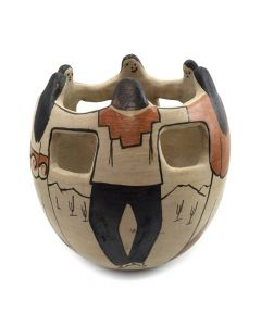 "Rupert Angea - Tohono O'odham Friendship Bowl c. 1980s, 7"" x 7"""