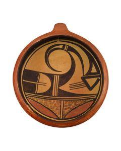 """Hopi Polychrome Bowl with Lug c. 1930-40s, 2"""" x 7.5"""" (P3056)"""