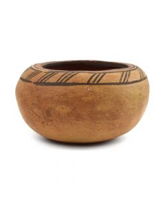 "Zia Bowl with Banded Design c. 1940s, 3.5"" x 6"""