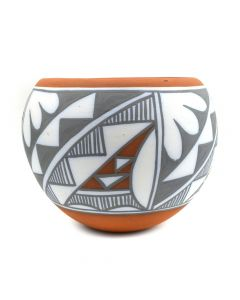 "Mary Small (b. 1945) - Jemez Polychrome Jar with Abstract Geometric Designs c. 1970s, 5"" x 6.5"""