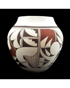 """Joy Navasie - Frogwoman (1919-2012) - Hopi Polychrome Jar c. 1970s, 6.5"""" x 6.5"""""""