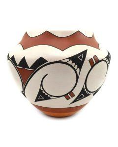 """Marquis Dann-Lente - Laguna Polychrome Jar c. 2000s, 6.75"""" x 8"""""""
