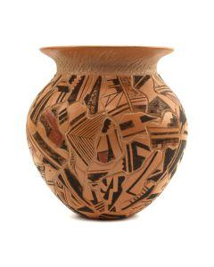 """Les Namingha (b. 1967) - Contemporary Hopi Polychrome Carved Jar, 4"""" x 4"""" (P3132)"""