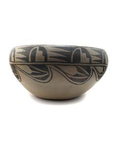 """Laurencita Pino - Large Tesuque Bowl c. 1960s, 6.75"""" x 13"""" (P3151)"""