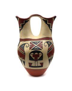 "Jemez Polychrome Wedding Vase with Bird Designs c. 1960s, 11"" x 7.5"" x 6"" (P3152)"