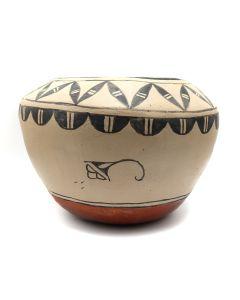 "Laurencita Herrera (1912-1984) - Cochiti Jar with Cloud Design c. 1950s, 6"" x 8.5"" (P3161)"