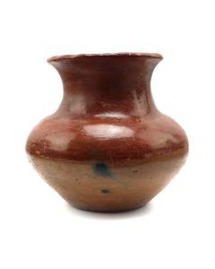 """San Juan Redware Vase c. 1890-1900s, 4.5"""" x 5"""" (P3173)"""