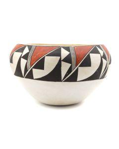 "Acoma Polychrome Bowl c. 1960s, 4.5"" x 7.5"" (P3175)"