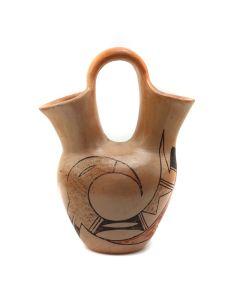 """Hopi Polychrome Wedding Vase c. 1950-60s, 6.75"""" x 5"""" x 3"""" (P3177)"""
