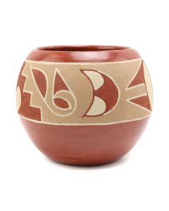 "Rosita Cata (1911-2008) - San Juan Redware Jar c. 1970s, 4"" x 4.5"" (P3180)"
