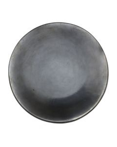 "Maria Martinez (1887-1980) - San Ildefonso Black Plate c. 1960s, 1.5"" x 10.75"" (P3226)"