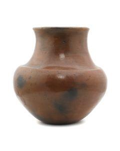 """Santa Clara Redware Vase c. 1890-1900s, 8"""" x 8"""" (P3263)"""