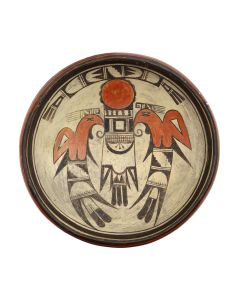 """Possibly Anne of Old Lady Nampeyo of Hano - Hopi Polychrome Bowl c. 1920s, 4"""" x 11.25"""" (P3291)"""