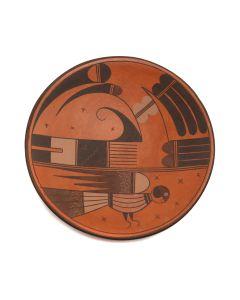 "Jacob Koopee (1970-2011) - Hopi Redware Plate c. 1990s, 1"" x 6.25"" (P3299)"