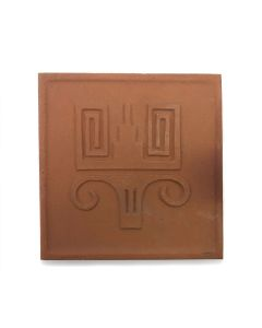 "Awa Tsireh (1895-1955) – San Ildefonso Pottery Tile, c. 1920s, 4.75"" x 4.75"" (P3304-CO-54)"