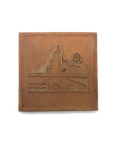 "Awa Tsireh (1895-1955) – San Ildefonso Pottery Tile, c. 1920s, 4.75"" x 4.75"" (P3304-CO-59)"