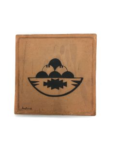 "Awa Tsireh (1895-1955) – San Ildefonso Pottery Tile, c. 1920s, 5"" x 5"" (P3304-CO-84)"
