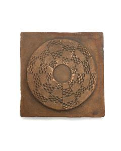 "Awa Tsireh (1895-1955) – San Ildefonso Pottery Tile, c. 1920s, 4.75"" x 4.75"" (P3304-CO-121)"