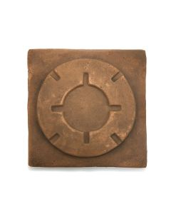 "Awa Tsireh (1895-1955) – San Ildefonso Pottery Tile, c. 1920s, 4.75"" x 4.75"" (P3304-CO-122)"