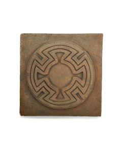 "Awa Tsireh (1895-1955) – San Ildefonso Pottery Tile, c. 1920s, 4.75"" x 4.75"" (P3304-CO-124)"