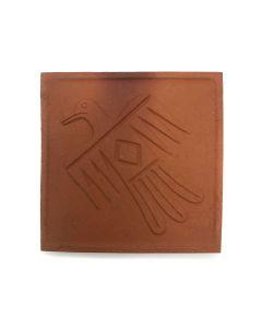 "Awa Tsireh (1895-1955) – San Ildefonso Pottery Tile with Thunderbird, c. 1920s, 4.75"" x 4.75"" (P3304-CO-193)"