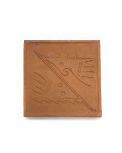 "Awa Tsireh (1895-1955) – San Ildefonso Pottery Tile, c. 1920s, 4.75"" x 4.75"" (P3304-CO-197)"