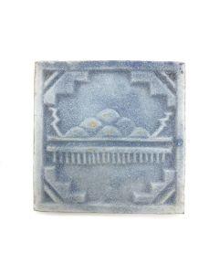 "Awa Tsireh (1895-1955) – San Ildefonso Pottery Tile with Rainclouds, c. 1920s, 4.25"" x 4.25"" (P3304-CO-206)"