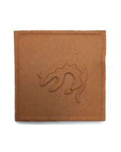 "Awa Tsireh (1895-1955) – San Ildefonso Pottery Tile with Heartline Animal, c. 1920s, 5"" x 5"" (P3304-CO-257)"