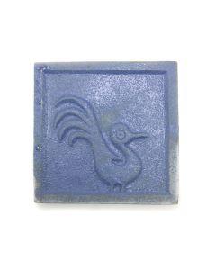 "Awa Tsireh (1895-1955) – San Ildefonso Pottery Tile with Bird, c. 1920s, 4.25"" x 4.25"" (P3304-CO-285)"