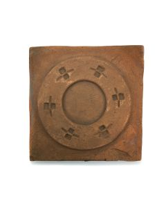 "Awa Tsireh (1895-1955) – San Ildefonso Pottery Tile, c. 1920s, 4.75"" x 4.75"" (P3304-CO-302)"