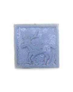 "Awa Tsireh (1895-1955) – San Ildefonso Pottery Tile with Deer, c. 1920s, 4"" x 4"" (P3304-CO-324)"