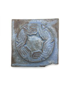 "Awa Tsireh (1895-1955) – San Ildefonso Hand Glazed Pottery Tile, c. 1920s, 4.5"" x 4.5"" (P3304-CO-333)"