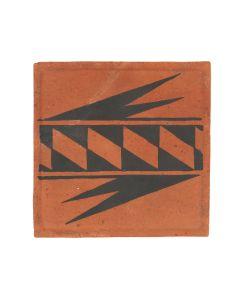 "Binary file Awa Tsireh (1895-1955) – San Ildefonso Hand Painted Pottery Tile, c. 1920s, 5"" x 5"" (P3304-CO-337)"