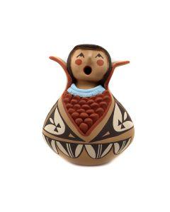 "Jo Toya - Jemez Contemporary Storyteller Figurine, 6.5"" x 5"" x 5"" (P3310)"