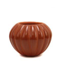 "Maxine A. Yepa (b. 1970) - Jemez Redware Melon Jar c. 1980-90s, 2.75"" x 3.75 (P3325)"