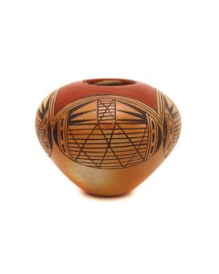 """Elton Tewaguna Nampeyo (b. 1953) - Hopi Polychrome Jar c. 1970-80s, 2.625"""" x 3.5"""" (P3330)"""