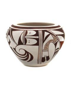 """Grace Navasie (b. 1953) - Hopi Polychrome Jar c. 1980s, 2.75"""" x 3.75"""" (P3351)"""
