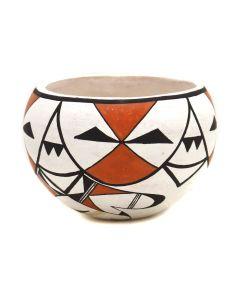 "Dolores Lewis Garcia (b. 1938) - Acoma Polychrome Jar c. 1960-70s, 2.75"" x 3.75"" (P3352)"