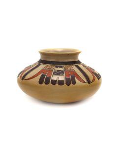 "Hopi Polychrome Vase c. 1990s, 4"" x 6"" (P3363-37)"