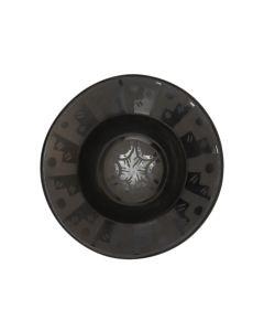 """Celestina Naranjo (1912-1999) - Santa Clara Black on Black Plate c. 1980-90s, 1.625"""" x 4.875"""" (P3363-57)"""