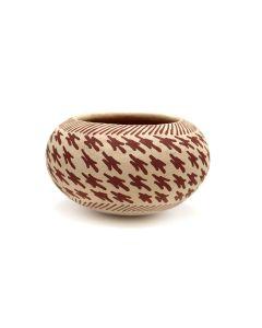 "Thornburg - Anglo Micaceous Redware Bowl c. 1990s, 2.5"" x 4"" (P3373)"